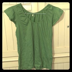 GAP Green Ruffle Sleeve T-Shirt